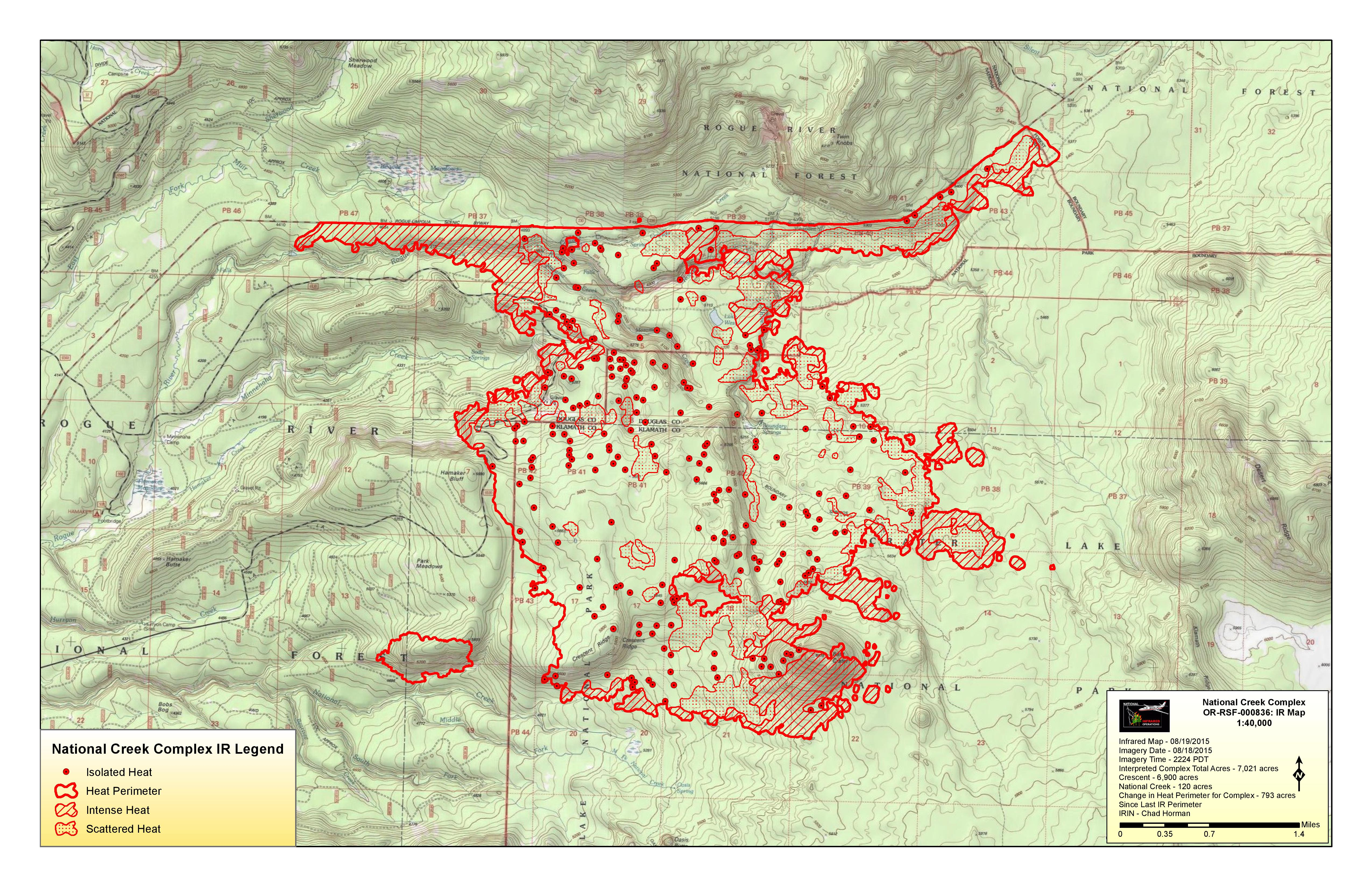 National Creek Complex Fire Update and Map 8/19 | National Creek ...